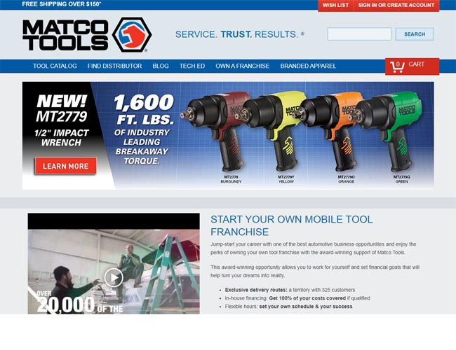 manufacturer & supplier of professional hand tools & automotive service equipment