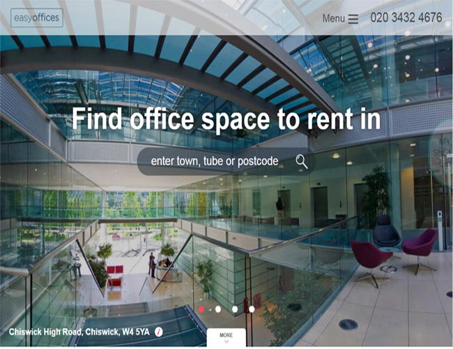 WEb Design serviced office space in a variety of locations in London and throughout the UK