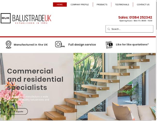 Web Design Manufacturers, suppliers and fitters of Staircases,